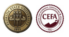 Florida State University and Center for Economic Forecasting & Analysis logos