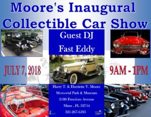 Moores Collectible Car Show flyer