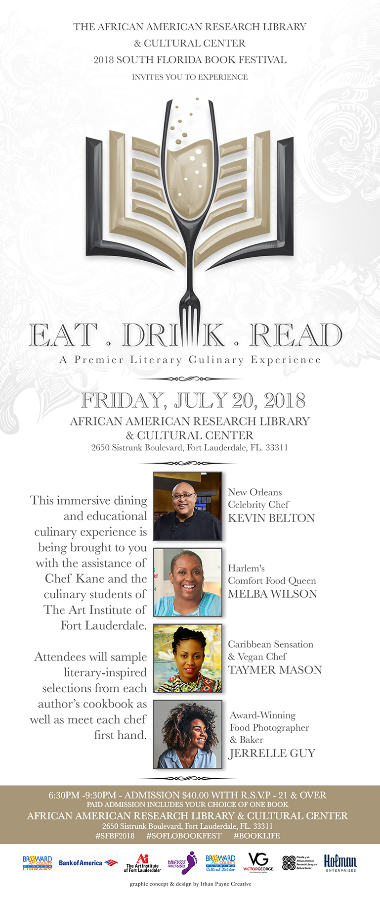 Eat, Drink, Read: A Literary Culinary Experience flyer