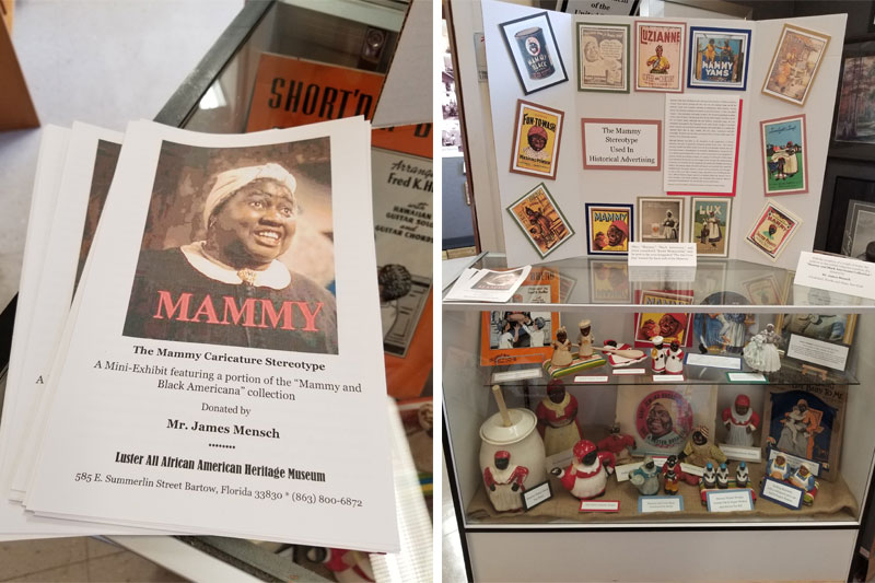 The Mammy Caricature Stereotype exhibit