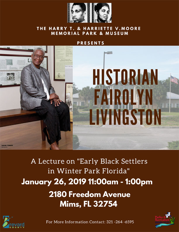 Lecture: Early Black Settlers in Winter Park Florida