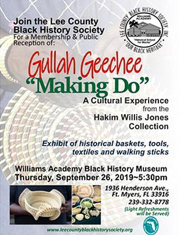 Gullah Geechee exhibit flyer