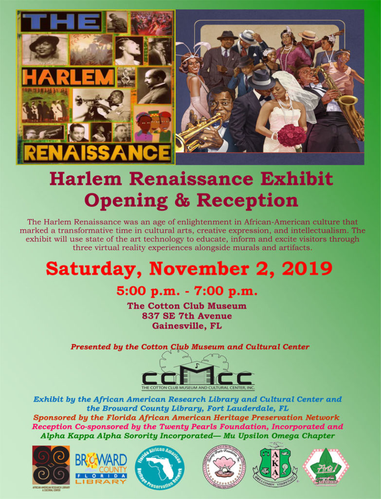 Harlem Renaissance Exhibit flyer