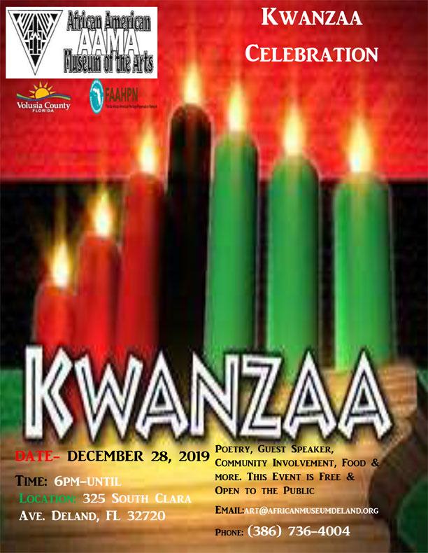AAMA Kwanzaa Celebration eflyer