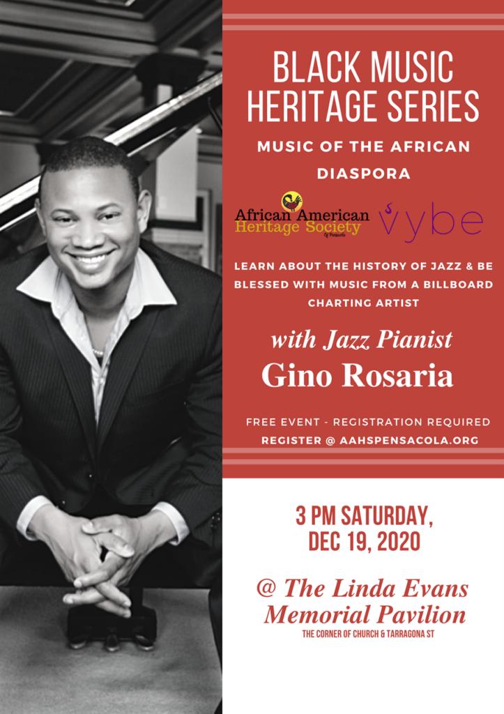 Gino Rosaria Jazz Event flyer