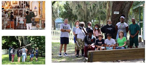 tour group at the Mary S. Harrell Black Heritage Museum