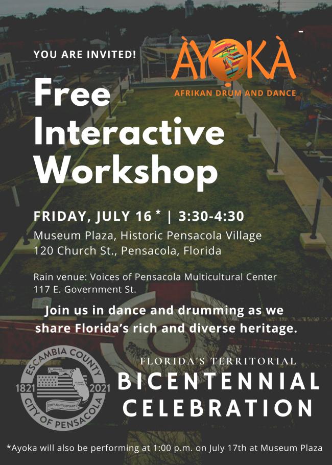 Pensacola Bicentennial Event flyer