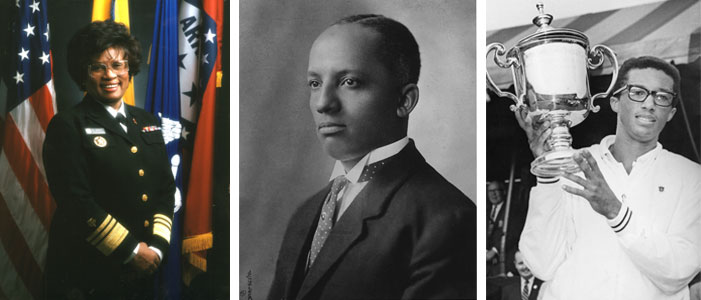 M. Joycelyn Elders, Carter G. Woodson and Arthur Ashe